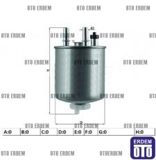 Renault Latitude Yakıt Filtresi 164005033R