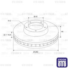Renault Megane 2 Ön Fren Disk Takımı (HB) 7701207795 - Valeo