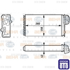 Renault Scenic 1 Kalorifer Peteği Radyatörü 7701205450
