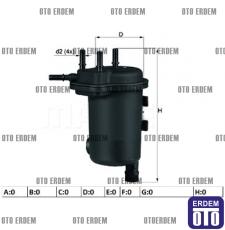 Renault Symbol 2 Yakıt Filtresi 1.5 dCi 8200151379