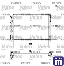Scenic 1 Motor Su Radyatörü Valeo 7702258285 - 2