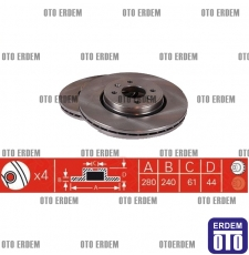 Scenic 2 Fren Diski Takım DELPHI 7701207829