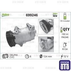 Scenic 2 Klima Kompresörü Valeo 8200316164