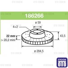 Stilo Multi Vagon Ön Fren Diski Takımı Valeo 46455892