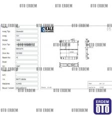 Tofaş Şahin Motor Su Radyatörü 2 Sıra 85008077 - 3