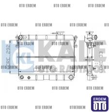 Tofaş Şahin Motor Su Radyatörü Yeni Model AL-PL 85008077 - 2