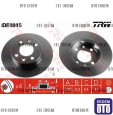 Twingo Ön Fren Disk Takımı TRW 7701204285
