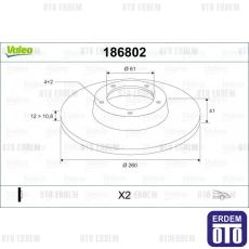Twingo Ön Fren Diski 259Mm Valeo 7701208252